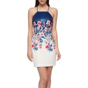 NWT- Guess Brand Floral Strappy Back Dress, Size 8